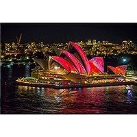 シドニーオペラハウスナイトシーンパズル、クオリティの親子おもちゃ、300/500/100/100/2000 / 6000パズルギフト 0221 (Color : A, Size : 500 pieces)