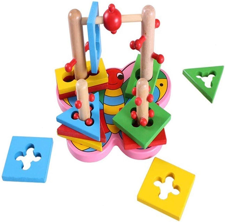Bunte Aktivität Spielzeug Kinder Holzspielzeug Baby Für Immer Schmetterling Set Spalte Cartoon Logik Blöcke Um Spalte Lernspielzeug für Kinder Jungen Mädchen B07H14FNTT  ein guter Ruf in der Welt | Billig ideal