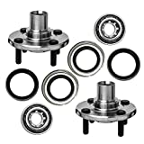 TUCAREST 518507 x2 (Pair) Front Wheel Bearing and Hub Assembly Compatible With 1988-2002 Toyota Corolla 1998-2002 Chevrolet Prizm 1993-1997 Geo Prizm [Hub Repair Kit;4 Lug Non-ABS]