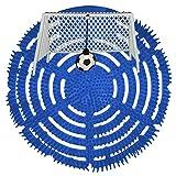 Urinalsieb Klokicker, Urinalsieb mit Fußball-Tor, Pissoir-Einsatz, Urinaleinsatz parfümiert mit Spritzschutz, Farbe:blau, Größe:2 Stück