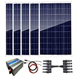 AUECOOR Kit de panel solar policristalino de 500 W: inversor de...