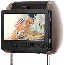 Zuggear Car Headrest Mount Holder Strap for Swivel and Flip Style Portable DVD Player - 9 Inch to 9.5 Inch Screen