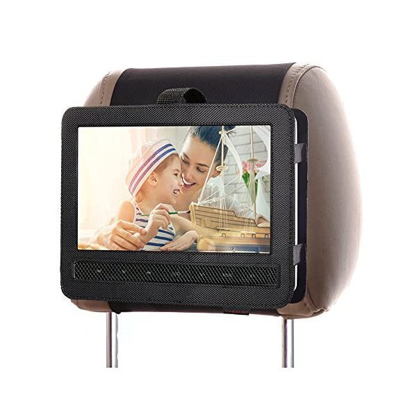 Car Headrest Mount Holder Strap for Swivel and Flip Style Portable DVD Player - 9 Inch to 9.5 Inch Screen 3
