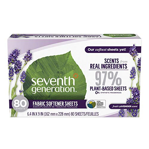 Seventh Generation Fabric Softener Sheets, Lavender, 80 Count