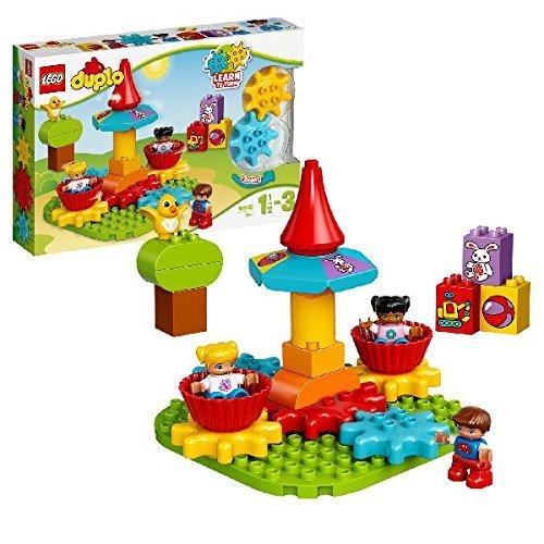 LEGO Duplo 10845 - Mein erstes Karussell, Spielzeug mit Lerncharakter, große Bausteine