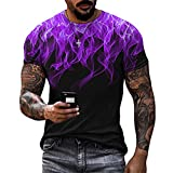 Musculosa Shirt Hombre Moderna Básica Elástica Hombre Camiseta Verano Moda 3D Estampado Cuello Redondo Deportiva Camisa Casual Cómodo Wicking Transpirable Hombre Manga Corta TTA4-13 XXL