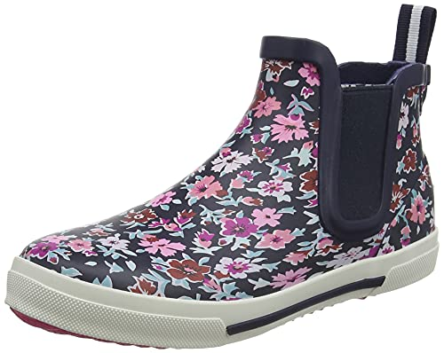Joules Girls Rainboots Rain Boot, Blue Ditsy Floral, 11 Little Kid