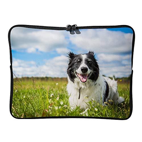 Normal Border Collie Dog - Bolsa para portátil (ampliable, para amantes de las mascotas, para viajes de negocios)