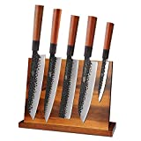 Findking Teak Magnetic Knife Block