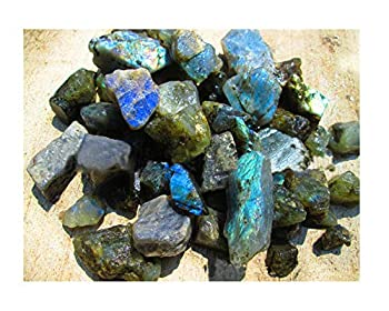 100g Natural Labradorite Healing Crystals Rough Raw Rocks Gemstones for Arts Crafts Tumbling Cabbing Polishing Wire Wrapping Wicca and Reiki Crystal Healing  Labradorite