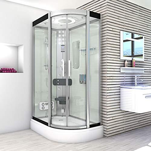 AcquaVapore DTP8060-7000R Dusche Duschtempel Komplett Duschkabine 80×120 - 7