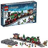 LEGO Creator Expert - Tren Navideño, Set de Construcción a Partir de 12 Años para Jugar y Exponer, Incluye Vías, Locomotora y Diferentes Minifiguras (10254)