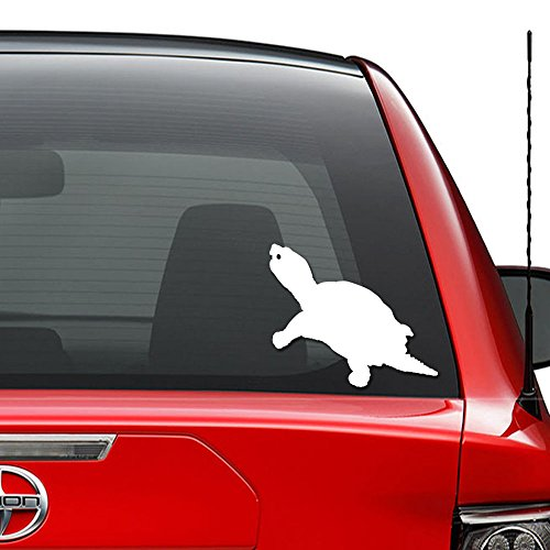Snapping Turtle Reptile Animal Vinyl Decal Sticker Car Truck Vehicle Bumper Window Wall Decor Helmet Motorcycle and More - (Size 5 inch / 13 cm Wide) / (Color Gloss White)