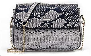 TOOGOO Crossbody Ms.Snake Print Pu Leather Shoulder Bag Women Chain Messenger Bag Lady Handbag Grey