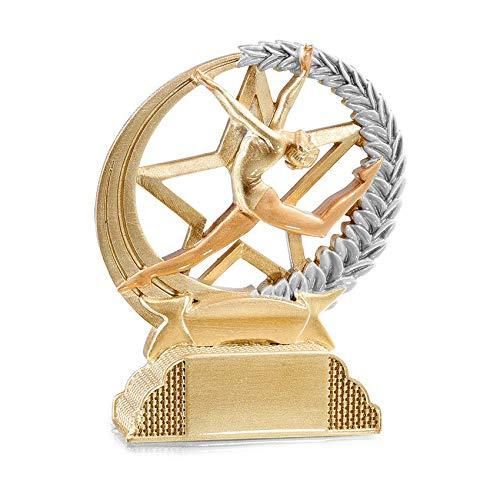 tecnocoppe Trofeo de gimnasia de Aristica, Ritmica, 13 cm de altura, para premios, placa personalizada de regalo