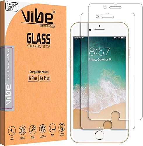 VIBE Screen Protector for Apple iPhone 6 Plus, iPhone 6S Plus, Tempered...
