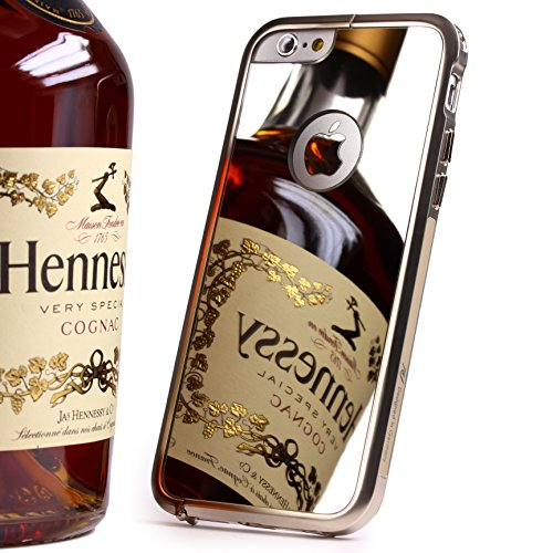 Urcover® Mirror Spiegel Schutz Hülle Aluminium Bumper kompatibel mit Apple iPhone 6 / 6s (4,7 Zoll) Zubehör Hülle Etui Spiegelhülle Hülle Cover Alu Cover Metal Champagner Gold