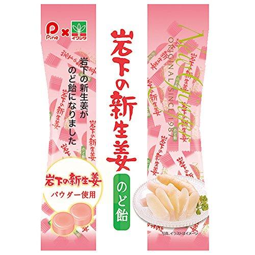 パイン 岩下の新生姜のど飴 80g×10袋