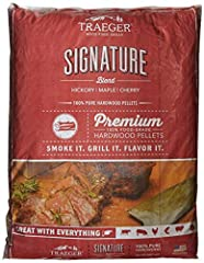 Never use gas or charcoal again: traeger Premium wood pellets deliver unmatched pure, hardwood taste and ensure perfect blue smoke to flavor your food Enhance flavor: A perfect blend of hickory, maple, and Cherry hardwoods that pair perfectly with yo...