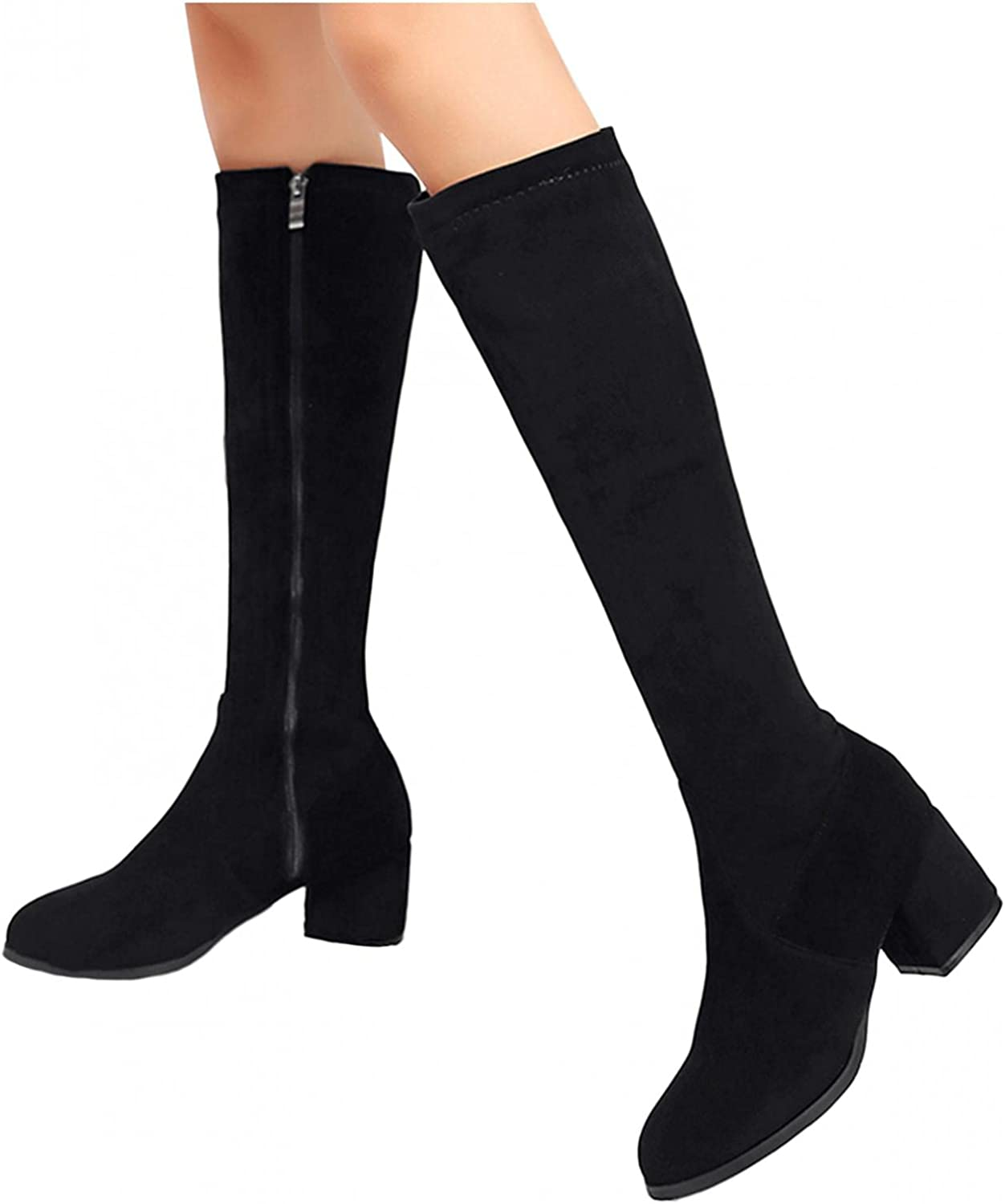 AODONG Boots for favorite Women Platforms Over The Knee half Chunky Square Hee