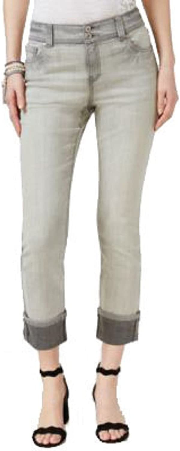 INC International Concepts Cropped CurvyFit Cropped Jeans