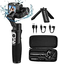 Hohem Gopro Gimbal 3-Axis Handheld Gimbal Stabilizer Splash Proof Pro for Gopro Hero 8/7/6/5/4/3 DJI Osmo Action Yi Cam 4K, SJCAM Sports Cams Support WiFi & Cable Control (iSteady Pro 3)
