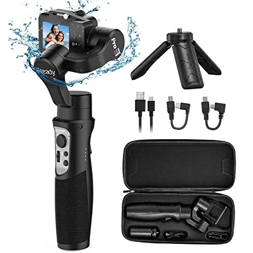 Hohem 3-Axis Handheld Gimbal Stabilizer Splash Proof Pro for Gopro Hero 8/7/6/5/4/3 DJI Osmo Action Yi Cam 4K, SJCAM Sports Cams Support WiFi & Wireless Cable Control (iSteady Pro 3)