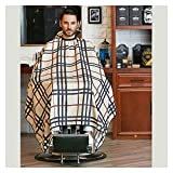 Mantón de peluquería Barber Shop Accessories Retro corte de pelo Cubierta Paño Pelo Pelo Equipo de peluquería Capas de peluquero, Capas de peluquero profesional chal de peluquería ( Color : Beige )