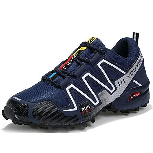 Treaded Sole Trainers,Calzado Deportivo de Malla de Gran tamaño para Hombres, Zapatos para Caminar al Aire Libre-Azul a_41,Calzado de Fitness para Trail Running