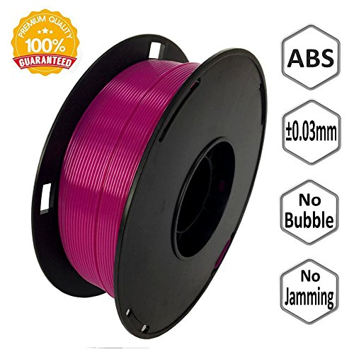 NOVAMAKER 3D ABS-1KG1.75-PUR ABS 3D Printer Filament, Dimensional Accuracy +/- 0.03 mm, 1 kg Spool, 1.75 mm, Purple