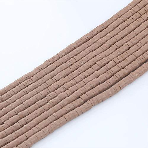 KASILU ZZ520 6 mm Polímero Plano Redondo Clay Beads Chip Disco Spacer Suelto Perlas Hechas a Mano para joyería de Bricolaje Haciendo Pulsera 15 Pulgadas Alrededor de 320pcs Aplicación Amplia