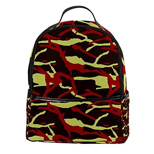 AITAI Zaino In Pelle PU Soldato Militare Camouflage Modello All'aperto Scuola College Bookbag fit Zaino