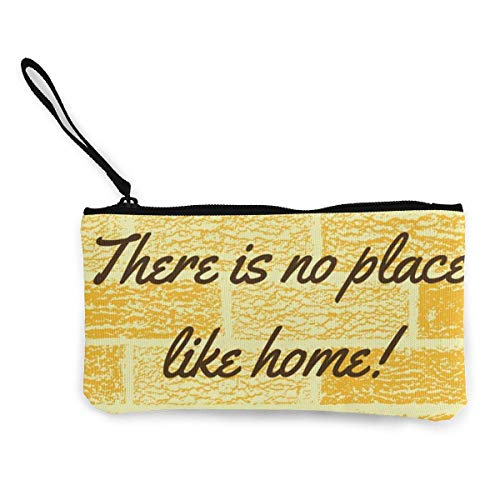Billetera, Monederos, Canvas Wristlets Yellow Brick There Is No Place Like Home Monederos Wallet Cash Bag Make Up Bag Phone Pouch Wallet