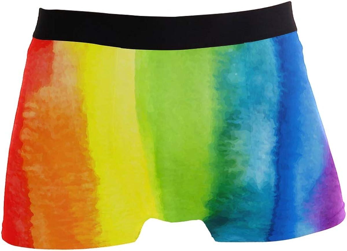 ZZKKO Stretchy Fashion Men's Underwear Boxer Briefs Breathable Summer Sports
