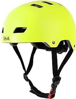 Bavilk Skateboard Bike Helmets CPSC ASTM Certified Multi Sports Scooter Inline Roller Skating 3 Sizes Adjustable for Kids Youth Adults