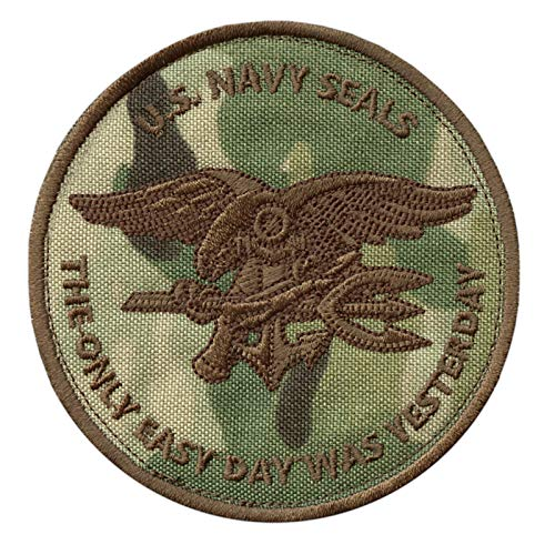 2AFTER1 Multicam US Navy Seals The Only Easy Day was Yesterday SOCOM DEVGRU Fastener Patch