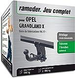 Rameder Attelage rotule démontable pour Opel GRANDLAND X + Faisceau 7 Broches...