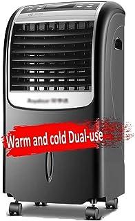 QFFL Climatizador Portátil , Acondicionador de Aire Portátil, Aire Acondicionado de Doble Uso Ventilador de 3 Velocidades con Modo de Reposo Calefactor Enfriador de Aire con Oscilación Y Sincronizació