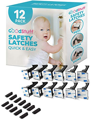 Product Image of the Cabinet Locks Child Safety Latches - Quick and Easy Adhesive Baby Proofing...