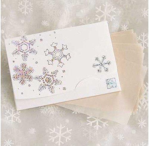 季節の花 きら雪 「絹すき」 短冊サイズ