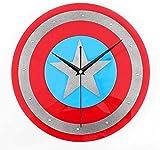 BINGTANGXUELI Co.,ltd Orologio da Parete Orologio da Parete America Captain Shield Home Decor Orologi Creative Art Watch Modern Design 12