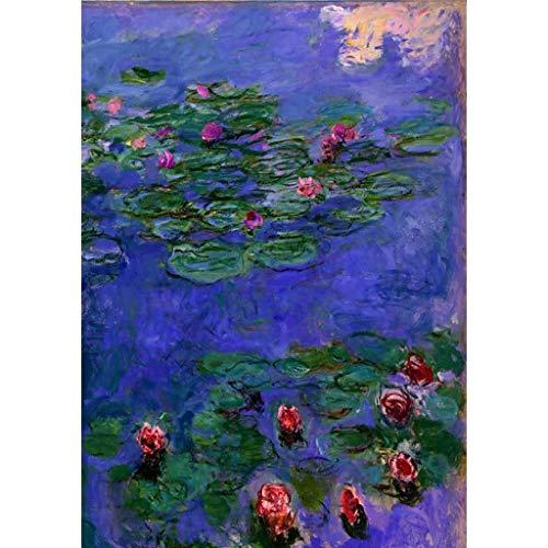 Kinderpuzzle-Stichsäge Meisterwerke von Monet, Wasser-Lilien-& Lotus Pond Perfect Cut & Fit Basswood, Klassik 500/1000 Stück Boxed Fotografie Stichsäge Spiel Malen for Erwachsene & Kinder