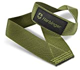 Harbinger Olympic Single-Loop Nylon Weightlifting Straps (Pair), Green