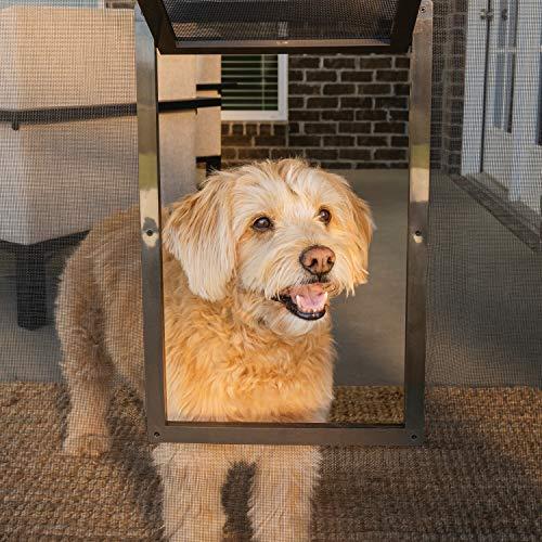 PetSafe Pet Screen Door - Dog and Cat Flap for Screen Door, Small, Window, Storm Door and Porch Use