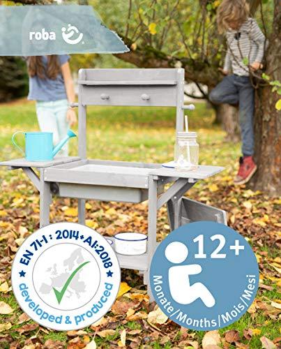 roba Matschküche Midi – Kinder-Outdoor-Gartenküche aus wetterfestem Massivholz - 5
