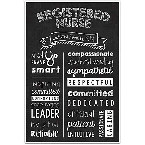 Personalized Registered Nurse Chalkboard Wall Art