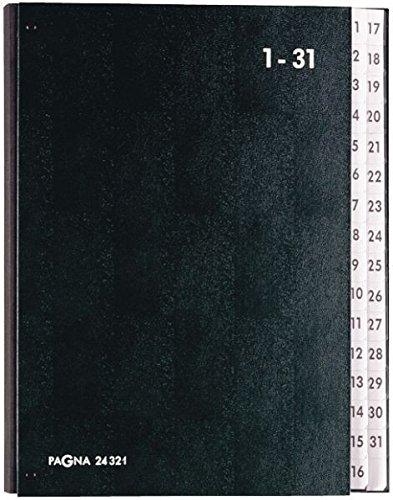 Pagna Pultordner 1-31 32 Fächer schwarz