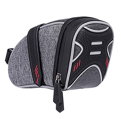 ShenPourtor Bike Seat Bag EVA Waterproof, Bicycle Saddle Bag Under Seat 3D Shell Cycling Seat Pack for Mountain Road Bikes with Reflective Strip