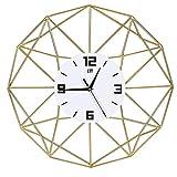 ENCOFT Vintage Francese Adesivo Orologio da Parete in Legno in Stile di Toscana Ottimo Disegno (d'oro, 50_x_50_cm)