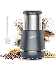 Koffiemolen, 300 W, elektrische koffiemolen, koffiebonen, noten, specerijen, granen, molen met roestvrijstalen mes, 200 g, inhoud voor koffiebonen, specerijen, granen, noten (zilver)
